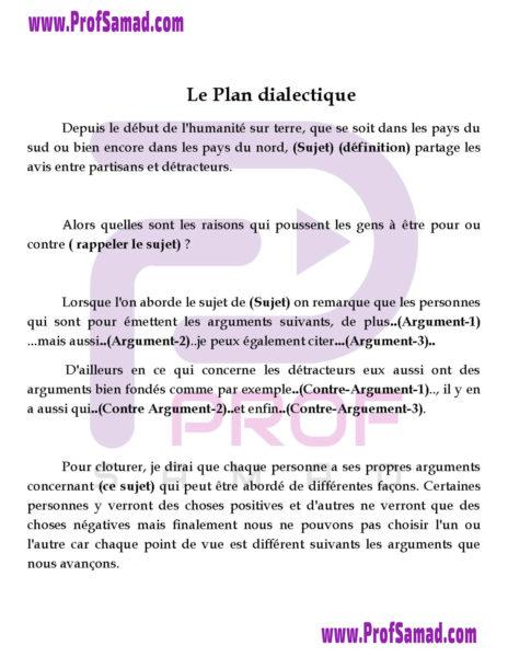 Plan Dialectique   Prof Samad